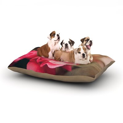 Angie Turner 'Camelia' Flower Dog Pillow with Fleece Cozy Top Size: Large (50