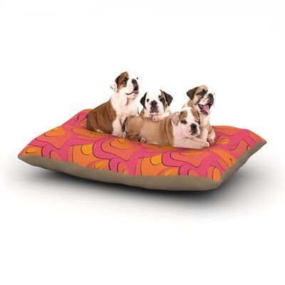 Akwaflorell Fly Away Sadness Abstract Dog Pillow with Fleece Cozy Top Size: Small (40 W x 30 D x 8 H)