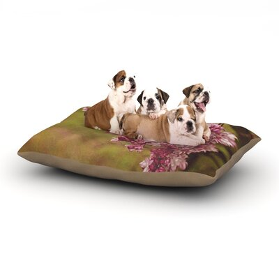 Angie Turner Lilacs Flower Dog Pillow with Fleece Cozy Top Size: Small (40 W x 30 D x 8 H)