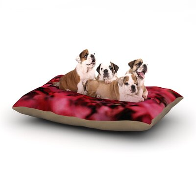 Angie Turner Red Leaves Leaf Dog Pillow with Fleece Cozy Top Size: Small (40 W x 30 D x 8 H)