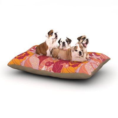 Akwaflorell Fishes Here, Fishes There III Dog Pillow with Fleece Cozy Top Size: Small (40 W x 30 D x 8 H)