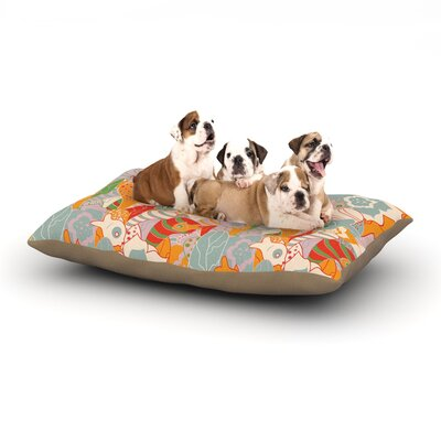 Akwaflorell Fishes Here, Fishes There II Dog Pillow with Fleece Cozy Top Size: Large (50 W x 40 D x 8 H)