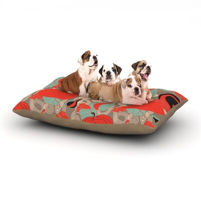 Akwaflorell Its Pumpkin Time Dog Pillow with Fleece Cozy Top Size: Large (50 W x 40 D x 8 H)