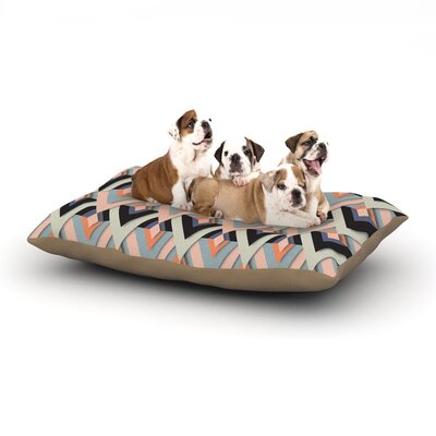 Akwaflorell Sweet & Sharp Dog Pillow with Fleece Cozy Top Size: Small (40 W x 30 D x 8 H)