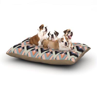 Akwaflorell Sweet & Sharp Dog Pillow with Fleece Cozy Top Size: Small (40 W x 30 D x 8 H)