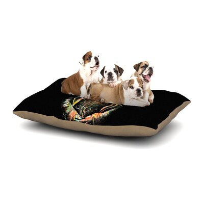 BarmalisiRTB There is No Place Deer Dog Pillow with Fleece Cozy Top Size: Large (50 W x 40 D x 8 H)