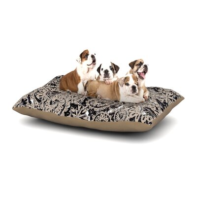 Akwaflorell Snowflakes Geometric Dog Pillow with Fleece Cozy Top Size: Small (40 W x 30 D x 8 H)