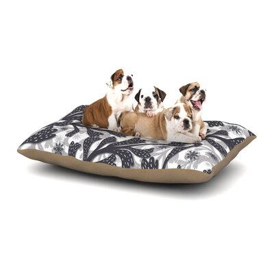Akwaflorell Snow Houses Abstract Dog Pillow with Fleece Cozy Top Size: Large (50 W x 40 D x 8 H)