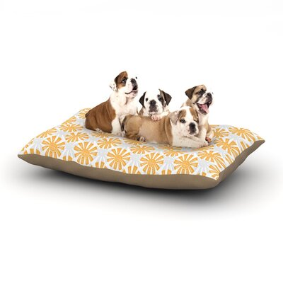 Apple Kaur Designs Sunburst Dog Pillow with Fleece Cozy Top Size: Small (40 W x 30 D x 8 H)
