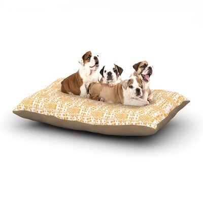 Apple Kaur Designs Diamonds Squares Dog Pillow with Fleece Cozy Top Size: Small (40 W x 30 D x 8 H)