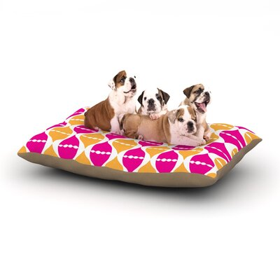 Apple Kaur Designs Moroccan Dreams Dog Pillow with Fleece Cozy Top Size: Small (40 W x 30 D x 8 H)