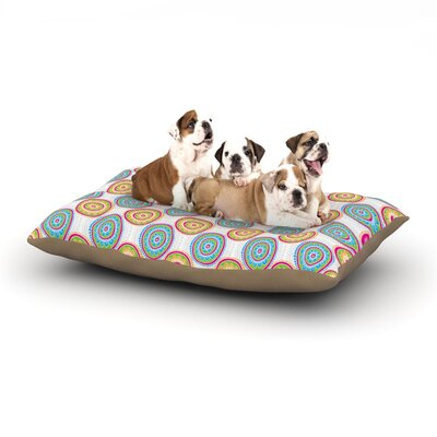 Apple Kaur Designs Bombay Dreams Dog Pillow with Fleece Cozy Top Size: Small (40 W x 30 D x 8 H)