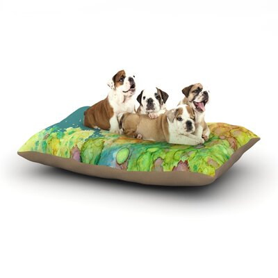 Rosie Brown Sea Life II Dog Pillow with Fleece Cozy Top Size: Large (50 W x 40 D x 8 H)