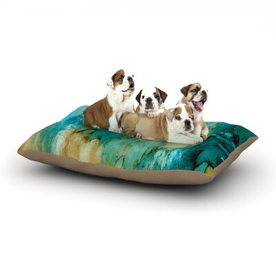 Rosie Brown Waterfall Dog Pillow with Fleece Cozy Top Size: Large (50 W x 40 D x 8 H)