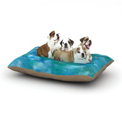 Rosie Brown Ocean Waters Dog Pillow with Fleece Cozy Top Size: Small (40 W x 30 D x 8 H)