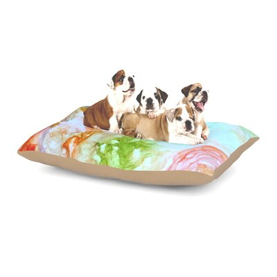 Rosie Brown November Rain Dog Pillow with Fleece Cozy Top Size: Large (50 W x 40 D x 8 H)