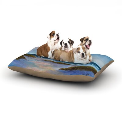 Rosie Brown Wet Sand Beach View Dog Pillow with Fleece Cozy Top Size: Large (50 W x 40 D x 8 H)