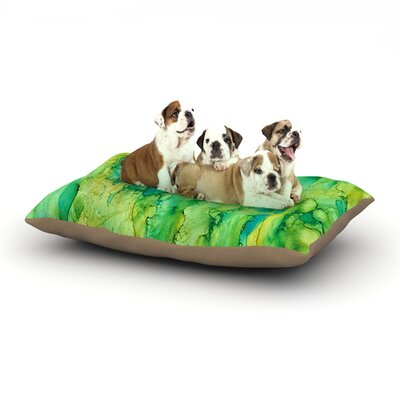 Rosie Brown Going Green Emerald Dog Pillow with Fleece Cozy Top Size: Large (50 W x 40 D x 8 H)