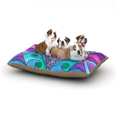 Rosie Brown Gatsby Inspired Dog Pillow with Fleece Cozy Top Size: Large (50 W x 40 D x 8 H)