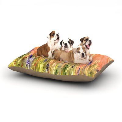 Rosie Brown Welcome Spring Dog Pillow with Fleece Cozy Top Size: Large (50 W x 40 D x 8 H)