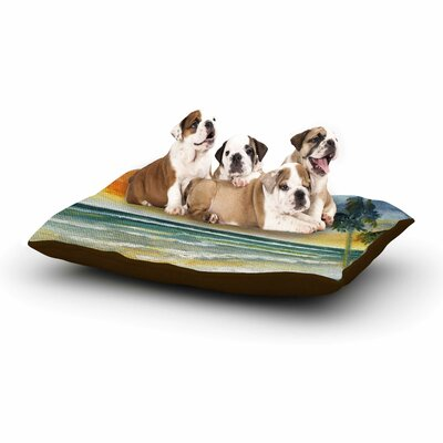 Rosie Brown End of Day Beach Dog Pillow with Fleece Cozy Top Size: Small (40 W x 30 D x 8 H)