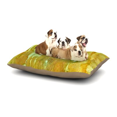 Rosie Brown Rock City Painting Dog Pillow with Fleece Cozy Top Size: Small (40 W x 30 D x 8 H)