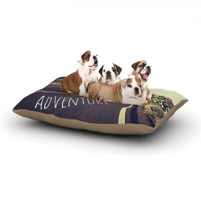 Sylvia Cook Adventure Desert Road Dog Pillow with Fleece Cozy Top Size: Large (50 W x 40 D x 8 H)