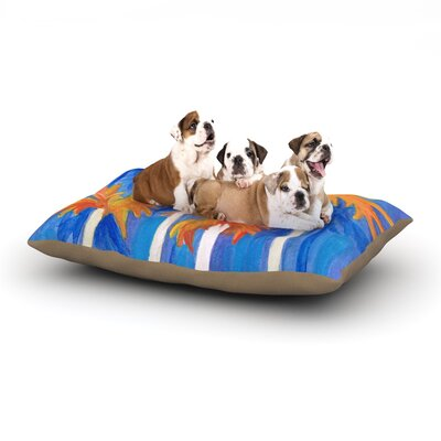 Rosie Brown Florida Autumn Dog Pillow with Fleece Cozy Top Size: Small (40 W x 30 D x 8 H)