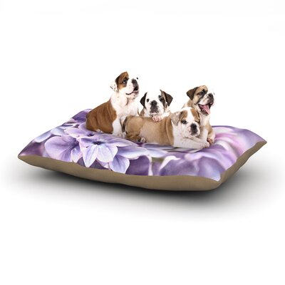 Sylvia Cook Lilac Flowers Dog Pillow with Fleece Cozy Top Size: Small (40 W x 30 D x 8 H)
