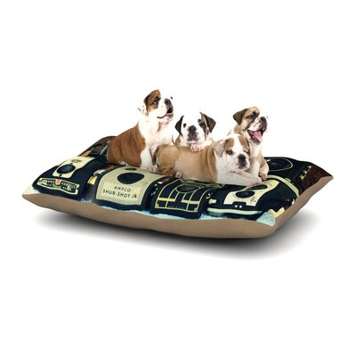 Robin Dickinson Through the Years Camera Dog Pillow with Fleece Cozy Top Size: Large (50 W x 40 D x 8 H)