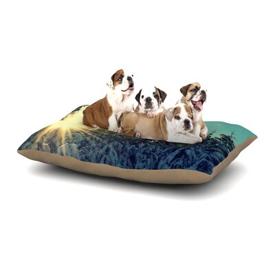 Robin Dickinson Shine Bright Snowy Trees Dog Pillow with Fleece Cozy Top Size: Large (50 W x 40 D x 8 H)