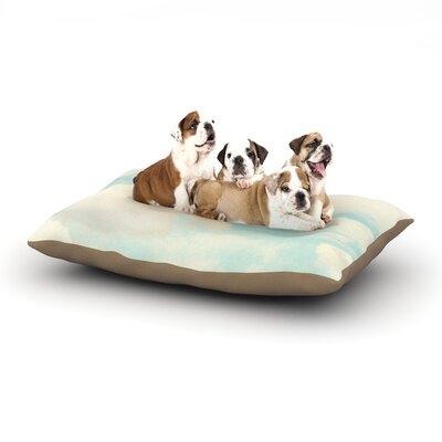 Sylvia Cook Clouds Dog Pillow with Fleece Cozy Top Size: Large (50 W x 40 D x 8 H)