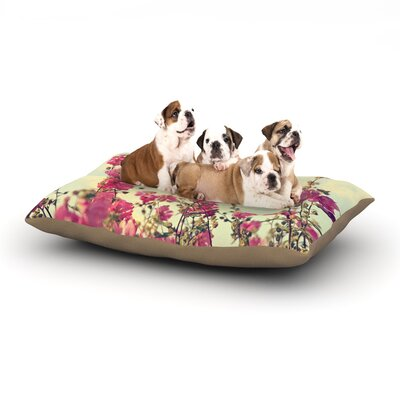 Sylvia Cook Pink Lavatera Flowers Sky Dog Pillow with Fleece Cozy Top Size: Large (50 W x 40 D x 8 H)