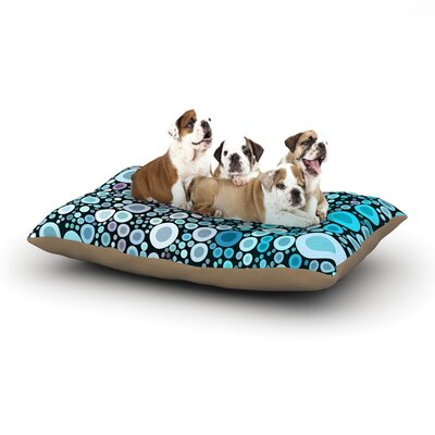 Sylvia Cook Aquatic Circles Dog Pillow with Fleece Cozy Top Size: Large (50 W x 40 D x 8 H)