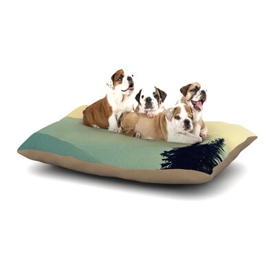 Robin Dickinson What a Wonderful World Dog Pillow with Fleece Cozy Top Size: Large (50 W x 40 D x 8 H)