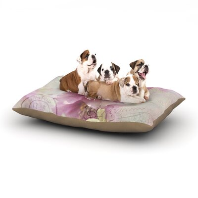 Sylvia Cook Hellabore Petals Dog Pillow with Fleece Cozy Top Size: Small (40 W x 30 D x 8 H)