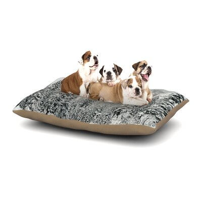 Robin Dickinson Winter Wonderland Dog Pillow with Fleece Cozy Top Size: Large (50 W x 40 D x 8 H)