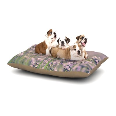 Robin Dickinson Smell the Flowers Dog Pillow with Fleece Cozy Top Size: Large (50 W x 40 D x 8 H)