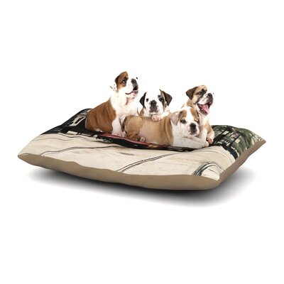 Sylvia Cook Canal Street Car Travel Urban Dog Pillow with Fleece Cozy Top