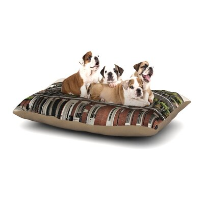 Sylvia Cook New Orleans Street Corner Dog Pillow with Fleece Cozy Top