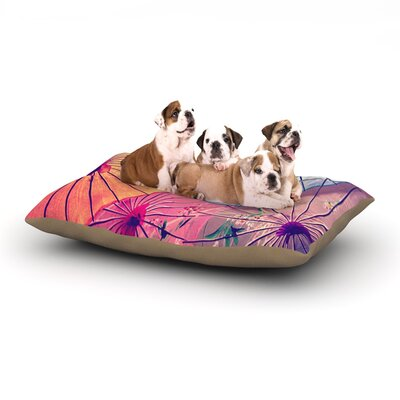 Sylvia Cook Colorful Umbrellas Dog Pillow with Fleece Cozy Top Size: Large (50 W x 40 D x 8 H)