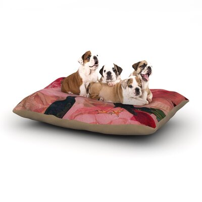 Suzanne Carter Song Bird Cush Dog Pillow with Fleece Cozy Top Size: Large (50 W x 40 D x 8 H)