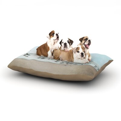 Sylvia Cook Sea Blue Coastal Dog Pillow with Fleece Cozy Top Size: Large (50 W x 40 D x 8 H)
