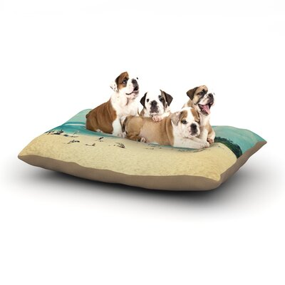 Sylvia Cook Paradise Dog Pillow with Fleece Cozy Top Size: Small (40 W x 30 D x 8 H)