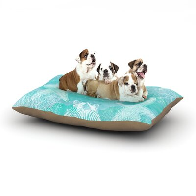 Sylvia Cook Seaside Dog Pillow with Fleece Cozy Top Size: Small (40 W x 30 D x 8 H)