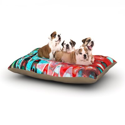 Suzanne Carter Aqua Wave Dog Pillow with Fleece Cozy Top Size: Small (40 W x 30 D x 8 H)