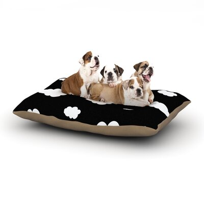 Suzanne Carter Clouds Dog Pillow with Fleece Cozy Top Size: Large (50 W x 40 D x 8 H)
