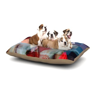 Suzanne Carter Twins Dog Pillow with Fleece Cozy Top Size: Large (50 W x 40 D x 8 H)