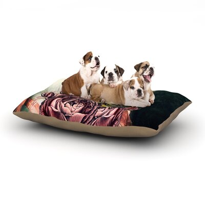 Suzanne Carter The Bouquet Dog Pillow with Fleece Cozy Top Size: Large (50 W x 40 D x 8 H)