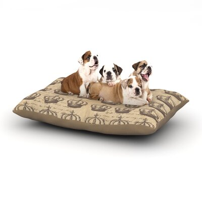 Suzanne Carter Crowns Dog Pillow with Fleece Cozy Top Size: Small (40 W x 30 D x 8 H)